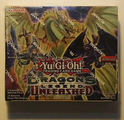 Yu-Gi-Oh Display Box Dragons of Legend Unleashed 1. Auflage 24 Booster sealed #1