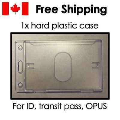 Hard plastic card holder case sleeve protector for OPUS metro bus transit pass