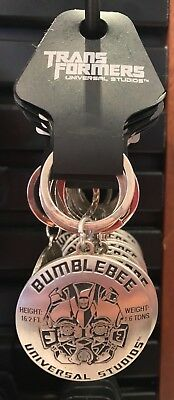 Universal Studios Exclusive Transformers Bumblebee Metal Keychain New
