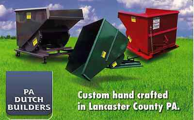 Self Dumping Dump Hoppers Dumpsters Container 1-1/2 Yard 3000 LBS for Forklifts