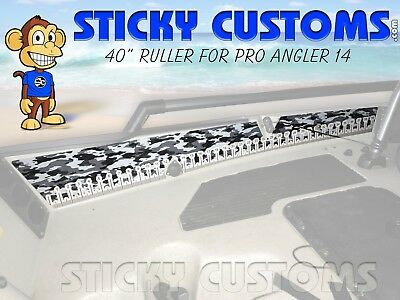 Fishing Fish Ruler Sticker Decal Hobie PA Pro Angler 14 SNOW Camo Sticky Customs