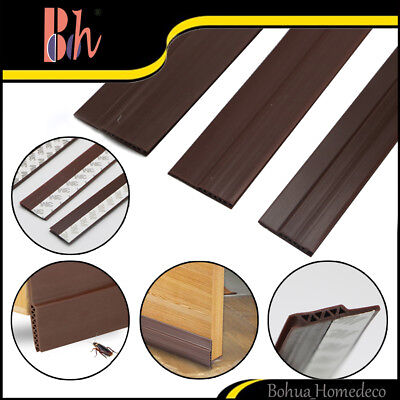 Self-adhesive Silicone Durable Corrugated Doors Bottom Sealing Weather Stripping