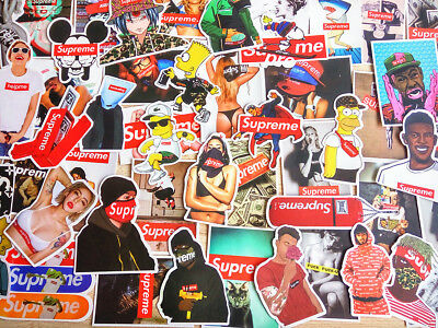50 Stickers Vinyl Skateboard Guitar Travel Case Pack Tide Brand Graffiti Decals