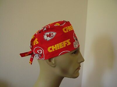 Surgical Scrub Hat/ Cap -NFL-KANSAS CITY CHIEFS - One size- Handmade Men Women