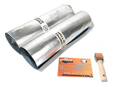 40sqft 80mil (4x 10sqft) roll Auto Sound Deadener includes Dynamat Xtreme sample