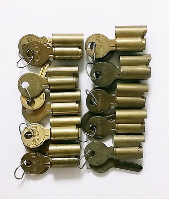 10 American Padlock Cylinder Lot Collection New Old Stock Locksmith Screw Retain