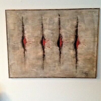 Modern British Abstract Painting 1960s or 1970s ? Signed paynton