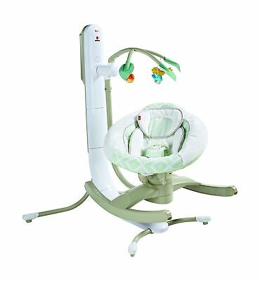 Fisher-Price 4 Motion Cradle 'n Swing with Smart Connect Techno Grey - NEW