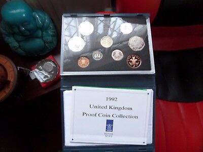 1992 Royal Mint UK Proof 9 Coin Year Set Contains Rare EC 50p 1992/1993 + COA