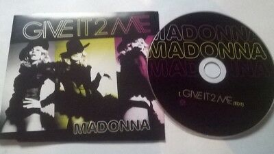 Madonna * Give It 2 Me * Rare 1  Track Promo Cd