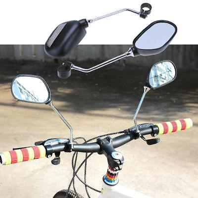 1 Pair Cycling Bike Bicycle Handlebar Flexible Safety Rear View Rearview Mirror