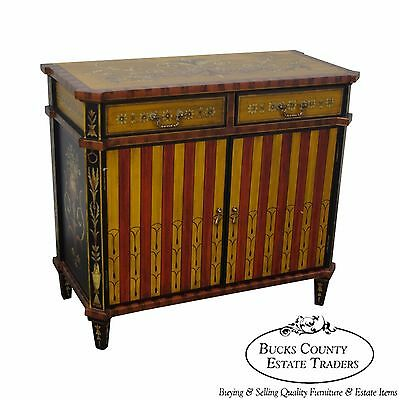 Adams Style Hand Painted Server Cabinet
