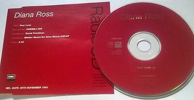 Diana Ross * Your Love * Very Rare 1 Trk Promo Cd Cdemdj 299 1993
