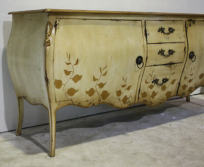 Beautiful antique bombay dresser hand painted with brass hardware