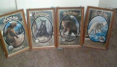 Hamms Beer series of 4 bear mirrors