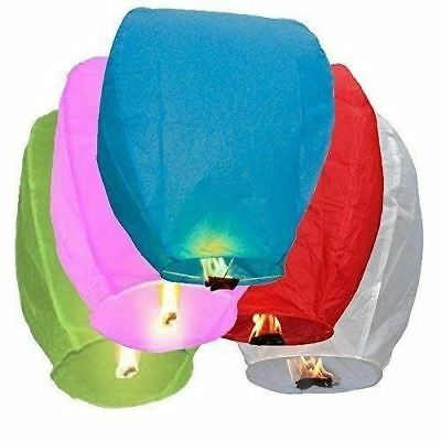 50 PCS Assorted Chinese Paper Flying Sky Lanterns Wish Wedding Party