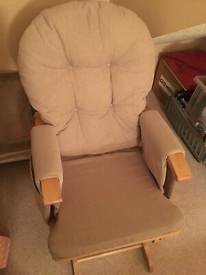 Maternity feeding/rocking chair with foot stool to match which also rocks
