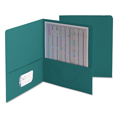 Smead Two-Pocket Folder Textured Paper Teal 25/Box 87867