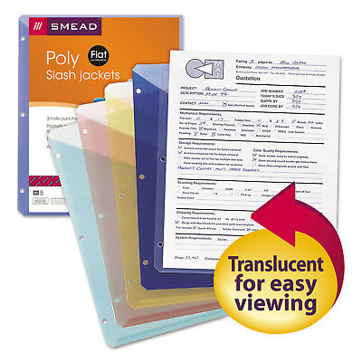 Smead Organized Up Poly Slash Jackets Letter Assorted 5/Pack 89505