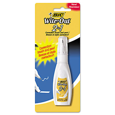 Bic Wite-Out 2 in 1 Correction Fluid 15 ml Bottle White WOPFP11
