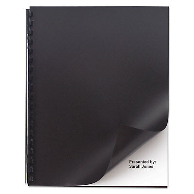 Swingline Opaque Plastic Presentation Binding System Covers 11 x 8-1/2 Black 50