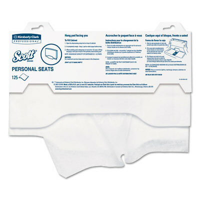 """Kimberly-Clark Personal Seats Sanitary Toilet Seat Covers 15"""" x 18"""" 125/Pack"""
