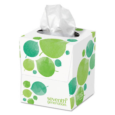 SEVENTH GENERATION 100% Recycled Facial Tissue, 2-Ply, 85/Box 13719EA