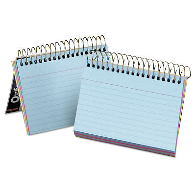 Oxford Spiral Index Cards 3 x 5 50 Cards Assorted Colors 40285