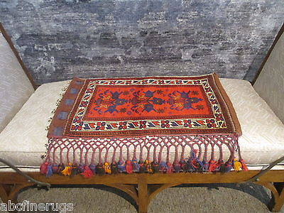 "2'5""x3' Decorative Pillow Cover Wall/Sofa Hanging Hand-knotted Wool Rug 581060"