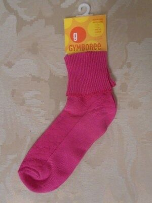 Nwt Vintage Gymboree Childrens Socks. Dark Pink (One Pair). Size 4-5 Years