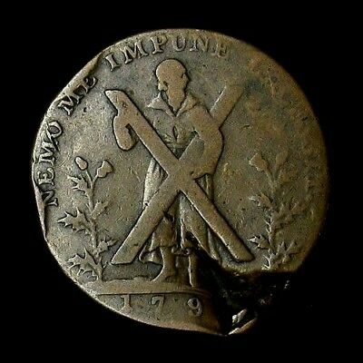 1791 Conder Token Half Penny Edinburgh Great Britain