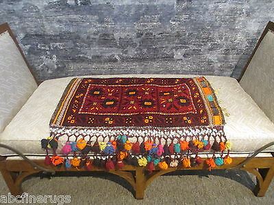 "2'5""x3' Decorative Pillow Cover Wall/Sofa Hanging Hand-knotted Wool Rug 581063"