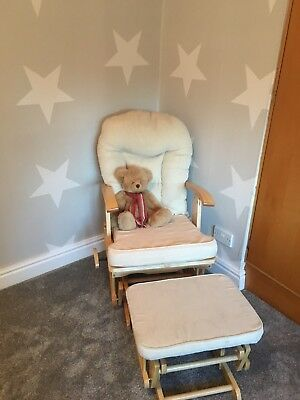 Rocking Chair And Foot Stool