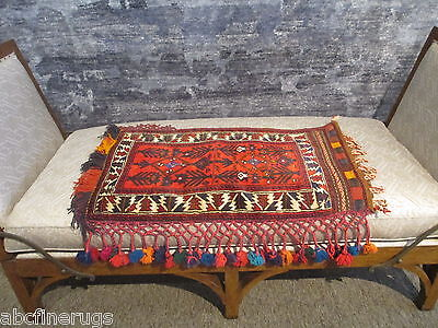 "2'2""x3'2"" Decorative Pillow Cover Wall/Sofa Hanging Hand-knotted Wool Rug 581064"