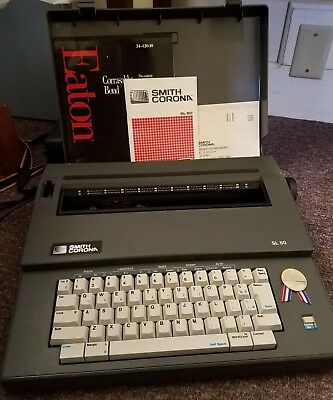 Vintage Smith Corona SL80 Portable Electric Typewriter Tested and Working!