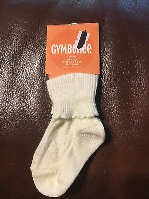 Nwt Gymboree Toddler Girls Socks With Lined Pattern (One Pair). Sz 3-12 Months