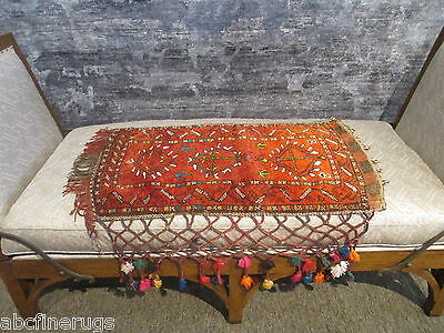 "2'7""x3'3"" Decorative Pillow Cover Wall/Sofa Hanging Hand-knotted Wool Rug 581078"