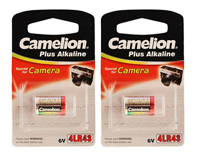 4LR43 PX27A 6V PX27 Camelion Plus Alkaline Special Camera Batteries (Pack of 2)