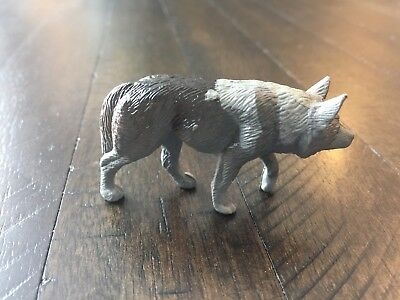 Rare! Play Visions Pv 1996 Animal Figure - Grey Wolf (Flawed)