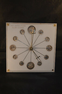 1964 Silver Coins Clock  M.k. Summers Brownstown,in Model No.72