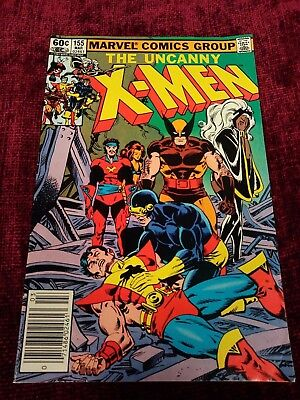 Uncanny X-Men #155 (Marvel, 1982) 1st Appearance of The Brood, Newsstand Edition