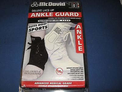 McDavid Deluxe lace up Ankle Guard A101 Extra Large white Mc David brace XL