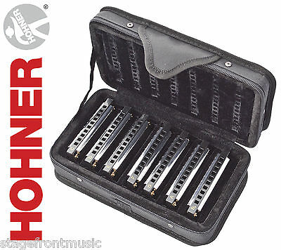 Hohner Blues Band 7 Piece Harmonica Set 91105 With Carry Case