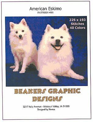 AMERICAN ESKIMO Counted Cross Stitch detailed #0951