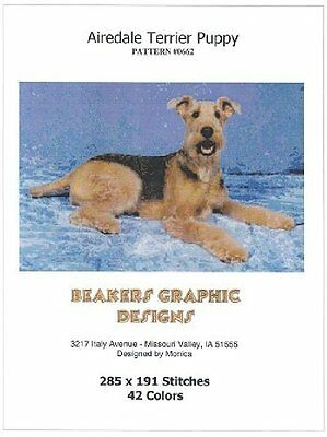 AIREDALE TERRIER Counted Cross Stitch detailed #0662