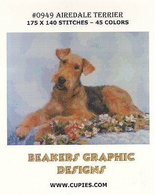 AIREDALE TERRIER Counted Cross Stitch detailed #0949