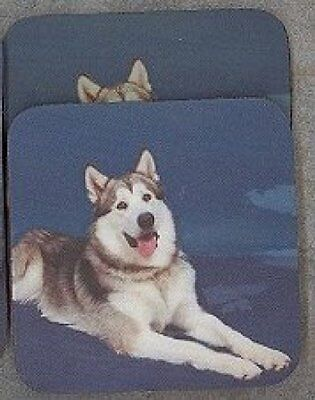 ALASKAN MALAMUTE Rubber Backed Coasters #0665