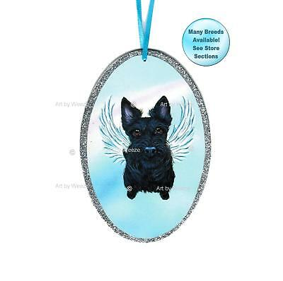 Scottish Terrier Angel Ornament Scottie Dog With Wings Christmas Ornament