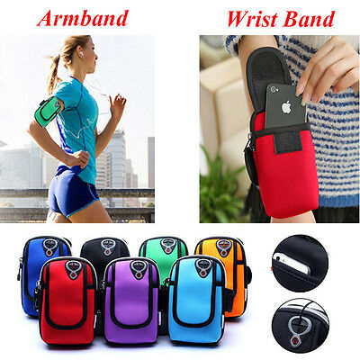 Sports Running Wrist Pouch Mobile Phone Arm Bag For iPhone 7/iPhone 7 Plus BDAU