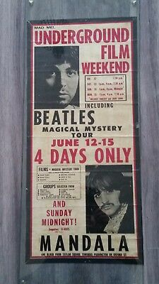 Original Beatles Hand Bill Movie Poster Of Magical Mystery Tour